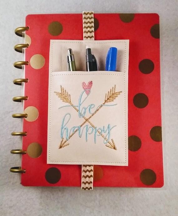 Be happy planner pen holder planner accessories journal for Happy planner accessories
