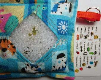 I Spy Bag Jungle Animals Neutral, eye spy, busy bag, seek and find toy game, gift, sensory occupational therapy, travel toy, fidget stimming
