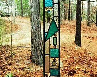 Beautiful stained glass panel gift art glass suncatcher interior design glass art stained glass windo