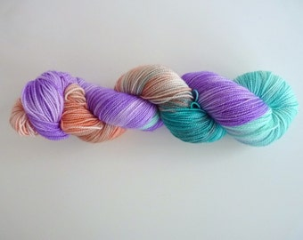 "Merino and sparkle sock yarn, hand dyed - Fingering - Brilli Brilli base - Colourway ""Nodame Cantabile"""
