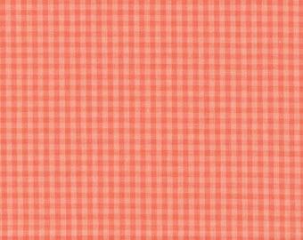 """Broadcloth-45""""-Coral/Salmon Check"""