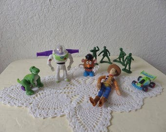 The First Toy Story Happy Meal/Fast Food toys from Burger King, Rare 1995 Complete Set.
