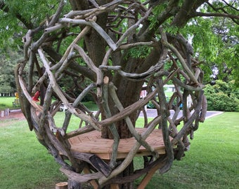 Natural Driftwood Play Structure