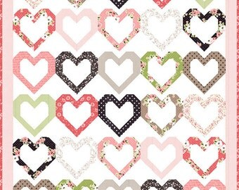 Olive's Flower Market - Open Heart Quilt Pattern by Lella Boutique