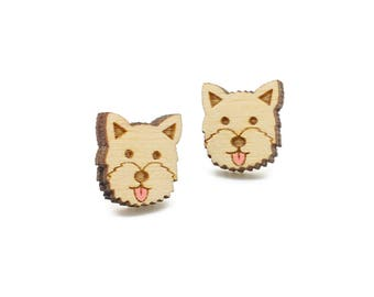 Westie earrings ~ laser cut dog stud earrings