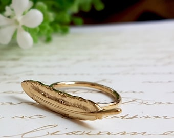 Gold Feather Ring, Feather Ring, Midi Ring, Bohemian Ring, Feather Jewelry, Bohemian Jewelry, Gift For Her, Boho Chic, Gold Midi Ring, Gifts
