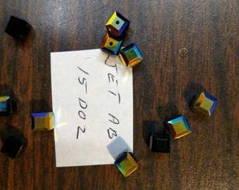 6mm Swarovski Crystal Cube JetAB