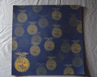 FFA gold Emblem 12x12 scrapbook paper