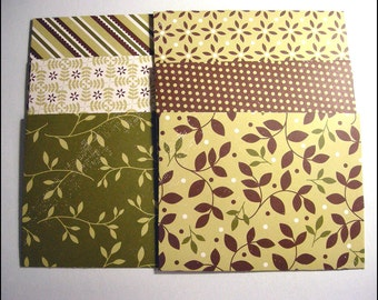 Pattern Envelopes set of 6 - Handmade envelopes, Office supplies, Neutral pattern card stock