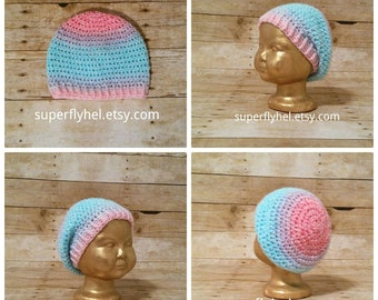 Toddler Slouchy Beanie, Kids Slouch Hat, Preschool Beanie, Ombre Slouchy, Slouchy Hat Beanie, Crochet Hat, Winter Hat, Fashionable Hat, Girl