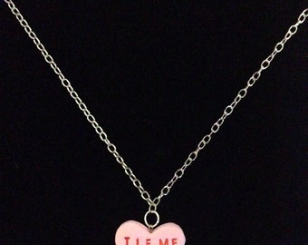 Kinky Candy Hearts Charm Necklace Spank Me Tie Me Up Eat Me Lick Me Valentine's Day