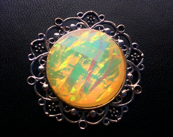 Mood Stone Cameo Necklace