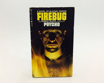 Vintage Horror Book Firebug by Robert Bloch 1967 Edition Paperback
