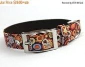 ON SALE Floral Bubbles Dog Collar