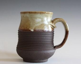 Pottery Coffee Mug, 13 oz, ceramic cup, handthrown mug, stoneware mug, pottery mug, unique coffee mug, ceramics and pottery