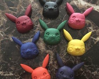 Pikachu inspired crayons