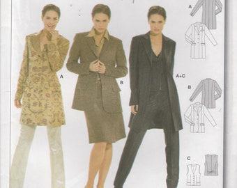 Blazer Pattern Vest Jacket Misses Size 12 - 14 - 16 - 18 - 20 - 22 - 24 Uncut Burda 8300