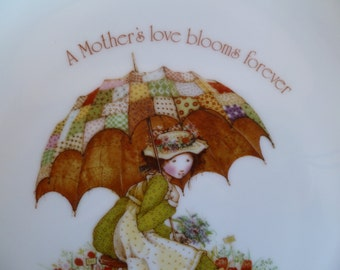 "Holly Hobbie Collector Plate "" Happy Mothers Day"""