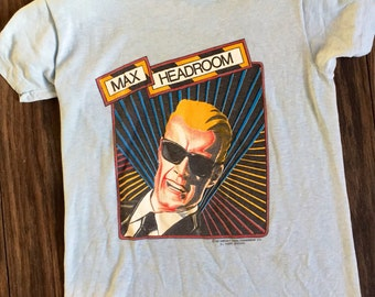 80s Max Headroom tshirt xs Cult promo tshirt