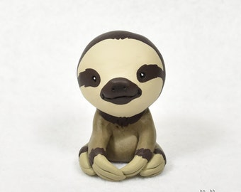 Hand Sculpted Three-toed Sloth Derp Figurine