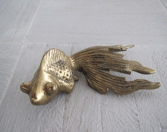 Mid century brass goldfish/ long tailed goldfish