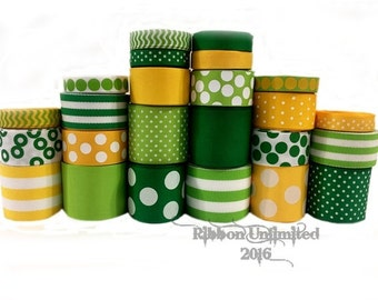 24 yds LEPRECHAUN collection WHOLESALE St Patrick's Day grosgrain ribbon Low Shipping Cost