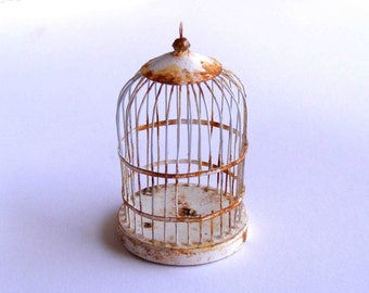 Shabby birdcage
