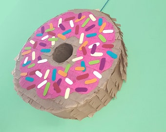 Sprinkled Donut Piñata / Doughnut Splinkle Piñata / Dessert Piñata