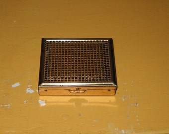 Goldtone Vintage Compact - Pill Box - Precription Box