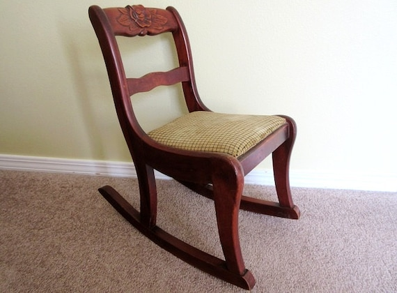 Antique Child S Rocking Chair Rose Back Duncan Phyfe