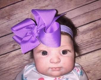 SSD  Newborn Infant Headband Basic Grosgrain Hair Bow Doll