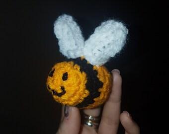Crochet handmade mini bumblebee bee honey amigurumi handmade set of 3 buzz stripe