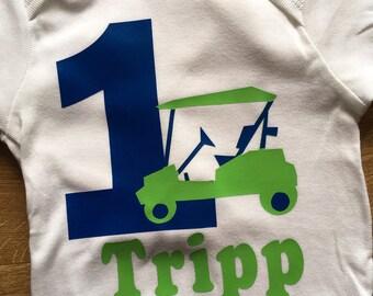 Personalized Golf Theme Birthday Shirt