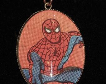 Marvel Avengers Spider Man Super Hero Comic Book Pendant Necklace