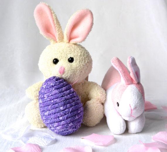 Purple Easter Egg, Handmade Easter Decoration, Violet Floral Easter Egg, Fun Easter Egg Hunt Egg