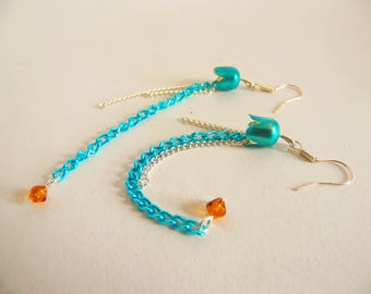 Blue Jellyfish Earrings
