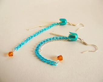 SALE Blue Jellyfish Earrings