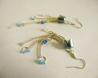 Pale Blue Jellyfish Earrings