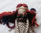 Auburn, a twilight starlet princess, handmade heirloom pocket doll 10 inches tall