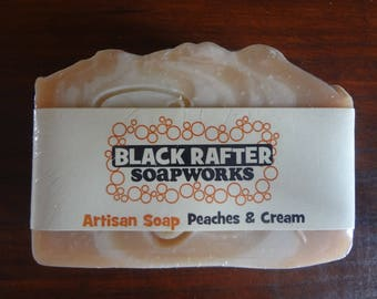 "Black Rafter SoapWorks ""Peaches & Cream"" Artisan Soap"