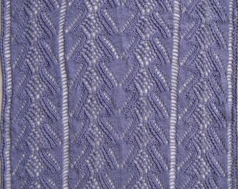 Knit Shawl Pattern:  Outskerries Lace Shawl Knitting Pattern
