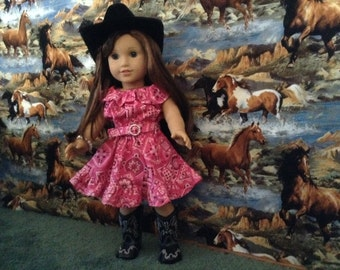 Ruffle dress for 18 inch doll