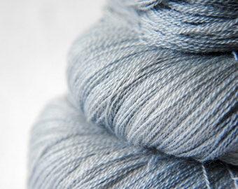 Blue Platinum - Merino/Silk/Cashmere Fine Lace Yarn