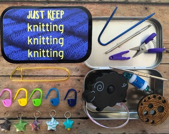 Just Keep Knitting: travel notions for knit night/project bag/airplane travel