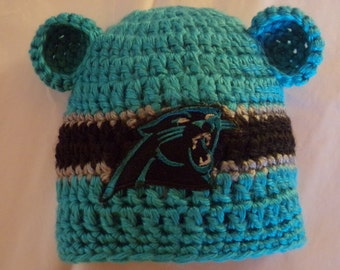 Panthers Baby hat for Newborn to 18 months- Carolina team colors