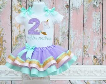 Unicorn pastel birthday tutu outfit, 1st birthday, Horse