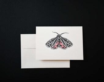Letterpress Virgin Tiger Moth Notecard