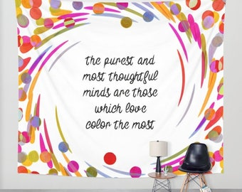 We Love Color wall tapestry quote wall decoration colorful home decor