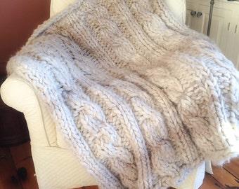 Luxury Alpaca Super Chunky Afghan Blanket