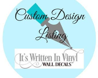 Custom listing for akneisel- personalized Vinyl Lettering wall decals decal kids family words bedroom Home decor itswritteninvinyl